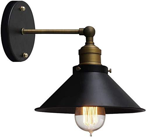 Wandlamp, enkele kop, café, wandlamp, hal, tent, huishoudtextiel, lamp, Europese verkoop, restaurant industrieel ijzer 20 x 15 cm wandlamp