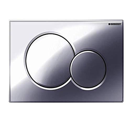 Geberit 115.770.21.5 Sigma01 Dual Flush Push Button Plate, Gloss Chrome