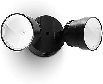 Lutec P6221B 1130 Lumen 15 Watt LED Dual-Head Floodlight