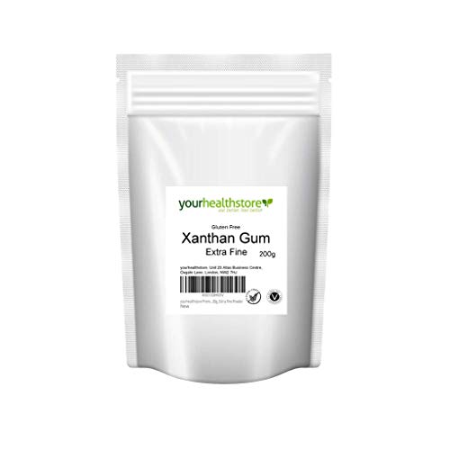 yourhealthstore - Goma de xantano sin gluten, 200 g, polvo extra fino (bolsa reciclable)
