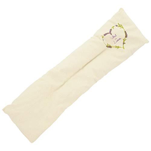 UMOI Cuscino con lavanda e grano con 700 grammi 42cm x 12cm per il relax e il benessere da scaldare in forno tradizionale o a microonde. Ideale per il rilassamento di mente e anima (Natura)