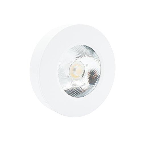 Downlight redondo de superficie LED blanco cálido 180 ángulo de haz 3 W Panel de luz lámpara de techo, COB LED luz