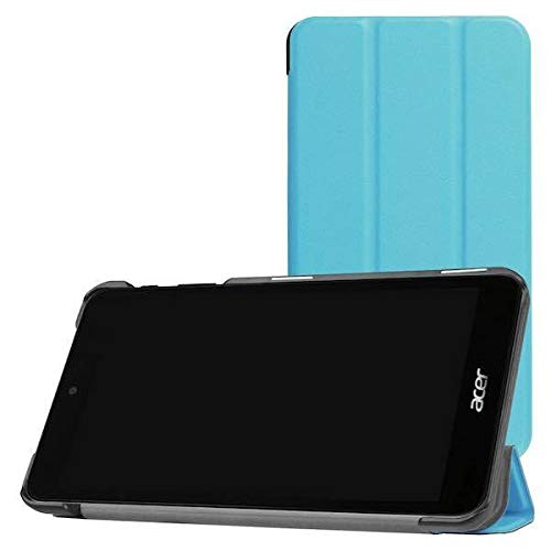Case2go - Case for Acer Iconia One 7 B1-780 - Slim Tri-Fold Book Case - Lightweight Smart Cover - Blue