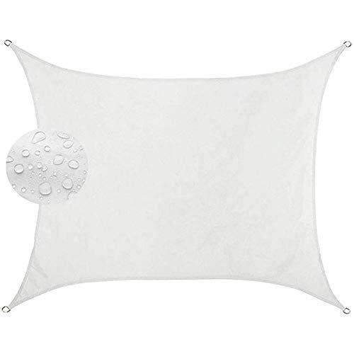 Aibingbao Vela de Sombra 6x7.5m Protección UV 95%, Toldos IKEA Impermeable, para Patio, Exteriores, Jardín, Blanco
