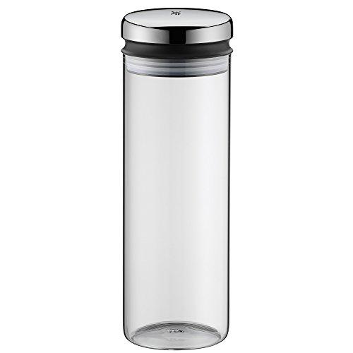 WMF Depot Vorratsglas, 1,5 l, Höhe 28,5 cm, Glas, Vorratsdose, Frischhaltedose zum Aufbewahren, große Einfüllöffnung