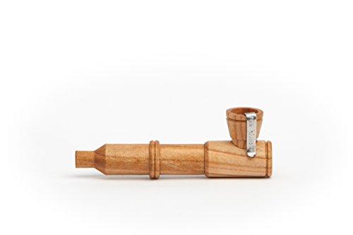Calumet Mini Rocket Purpfeife (Kirsche Schmales Mundstück) - 100 % Holzpfeife - Handgefertigte Qualität Made in Germany - Inkl. Einhängesieb, Aktivkohlefilter & Metallbox