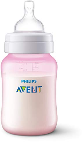 Philips Avent SCF814/17 - Biberón Anti-colic de 260ml, rosa