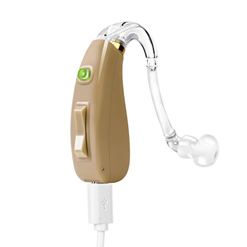 EASY USE AND COMFORTABLE FEATURE: Our hearing amplifier designed by audiologist is easy, durable, and comfortable to wear in either of the ears. Note: This PSAP device is not recommended for individuals with severe or profound hearing problem, this i...