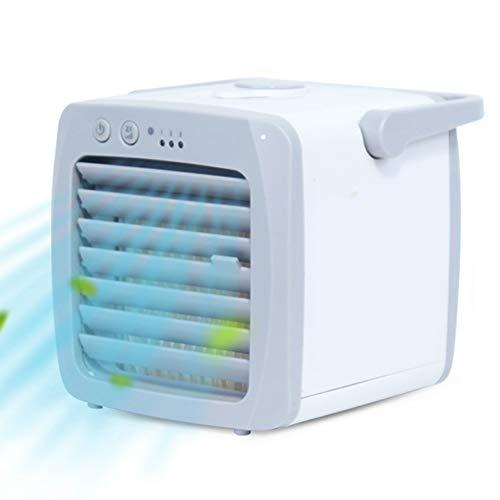 YUMO Portátiles de Aire más Fresco silencioso Mini acondicionador de Aire refrigerador pequeño Ventilador del humidificador con 3 velocidades para Ministerio del Interior