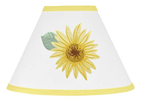 Sweet Jojo Designs Yellow, Green and White Sunflower Boho Floral Lamp Shade - Farmhouse Watercolor Flower