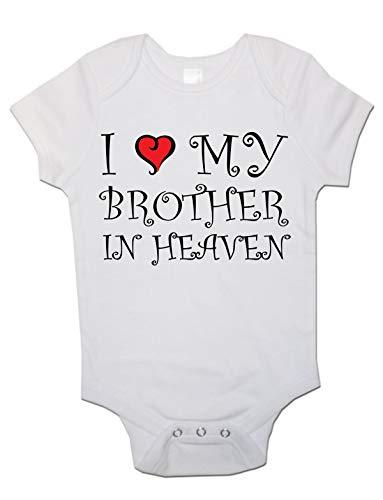 Body à manches courtes unisexe pour bébé avec inscription « I Love My Brother in Heaven »