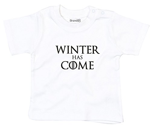 Winter Has Come, T-Shirt imprimé bébé, Blanc/Noir, 18-24 Mois