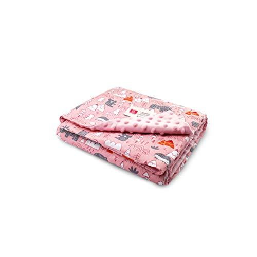 TWW Se Reconfortan Las Mantas para Niños, Mantas De Frijoles Y Mantas De Aire Acondicionado para Niños para Recién Nacidos,Pink 75X105cm