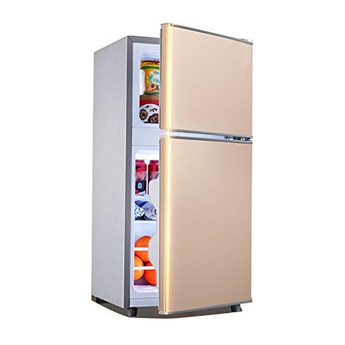 Unbekannt Kleiner Kühlschrank Mit Zwei Türen | 119L Kompakt-Gefrierschrank | 36L Gefrierschrank | 83L Kühlschrank | Energiesparender Dämpfer, Geeignet Für Economy-Räume, Büros, Schlafsäle, Wohnmobile