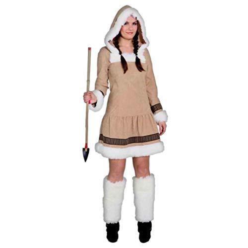 PARTY DISCOUNT ® Damen-Kostüm Eskimo Girl de Luxe, Gr. 44