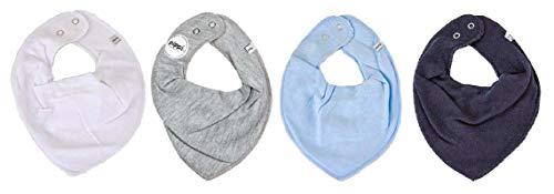 Pippi * 4er Set Baby Dreieckstuch Halstuch Lätzchen 4 Stück * verschiedene Farbkombinationen (4er Winter)