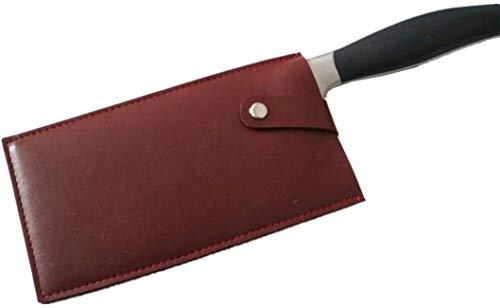 YONIK 包丁ケース 革 包丁カバー ナイフカバー 中華包丁カバー 23cm シェフナイフケース PUレザー 刃物 安全ケース (赤)