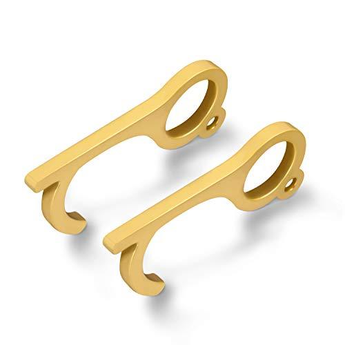2PCS Clean Key Door Opener, Touchless Key Tool No-Contact Keychain Door Opener