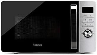 Taurus Microondas Fastwave 23L Digital – Modo Eco, 800W, Grill 900W, Descongelar, Multicook, QuickStart, Programable, Auto-clean, Revestimiento Shiny&Clean, 99min, Tec, SmartHeat, 455x342x26 mm, Inox