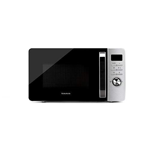 Taurus Fastwave 23L Digital - Microonde Digitale 23 L, 800 W/Grill 900 W, Modalità Eco, Acciaio Inossidabile
