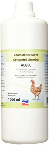 Kerbl Vitamin Konzentrat AD3EC für Geflügel, wasserlöslich mit Vitamin A/C/D3/E