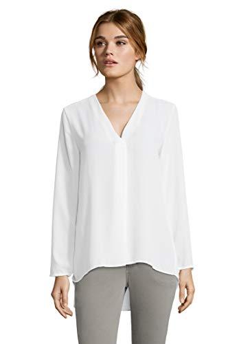 Cartoon Damen 8448/7130 Bluse, Weiß (Whisper White 1023), (Herstellergröße: 36)