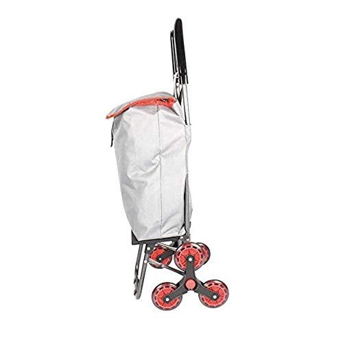 Sauber Meister Einkaufstrolley Easy Climb | Bewältigt mühelos Treppen und Bordsteinkanten | Faltbarer Einkaufsroller mit Abnehmbarer, wasserfester Einkaufstasche