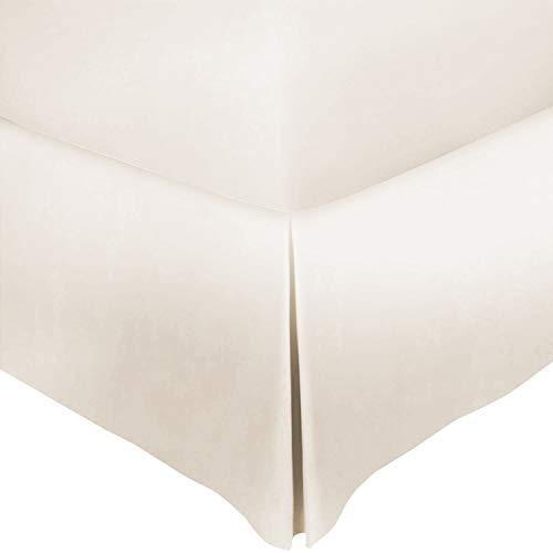 Mayfair Linen Bettvolant aus 100 % Baumwolle, Fadenzahl 800, passend zu Ihrer Bettwäsche, plissiertes Modell für einen edlen Look, sandfarben
