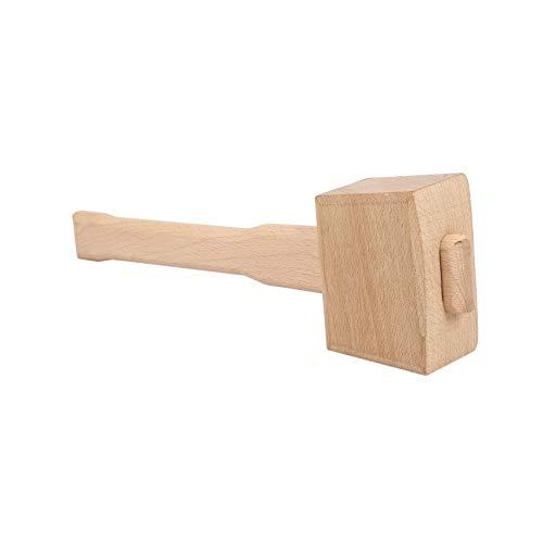 LNIMI 250mm Beech Solid Carpenter Wood Wooden Mallet Hammer Handle Woodworking Tool