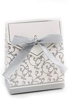 Bechtle Wedding Favors Candy, 50pcs Gold Silver Chocolates Cookie Candy Box Wedding Favors Decor DIY - Cookie Favors, Personalized Candy Box, Chocolate Favors, Cookie Favor Boxes