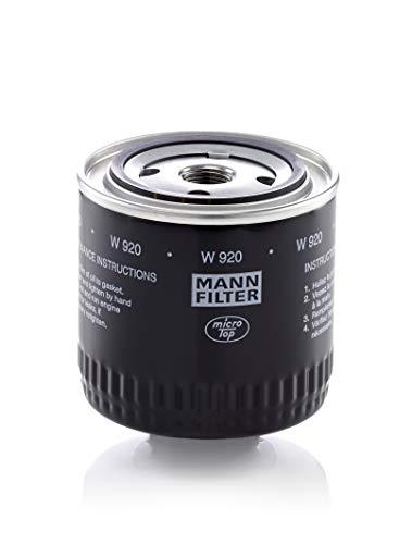 Original MANN-FILTER Filtro de aceite W 920 – Filtro hidráulico adecuado para transmisiones automáticas – Para vehículos de utilidad