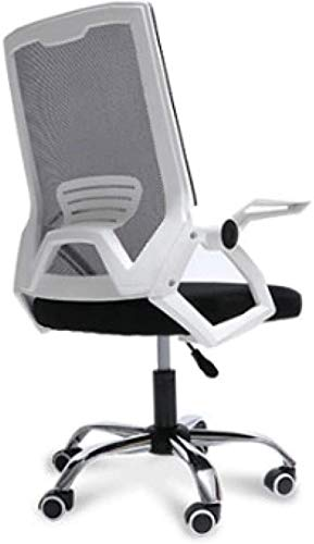 HZYDD Sedia da Ufficio ergonomica, Moderno Minimalista Moda Computer Sedia a Rete familiare Sedia di Studio, Bianco, Bianco, Nome a Colori: Bianco (Color : White)