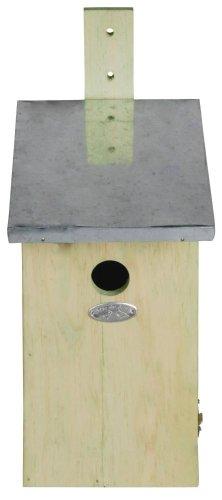 Esschert Design Beobachtungs-Nistkasten, Vogelhaus, 1 Stück, Sortiert, ca. 17 cm x 21 cm x 39 cm