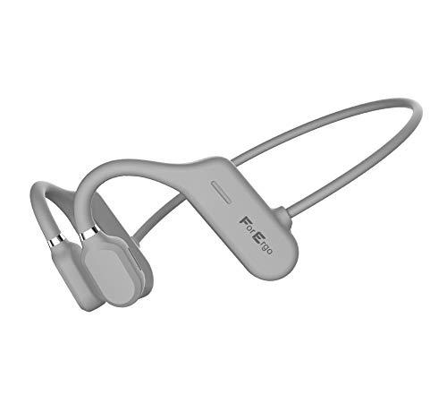 Auriculares Bluetooth con sonido direccional para deporte, con micrófono, resistentes al agua, auriculares inalámbricos para ciclistas, correr (gris claro)