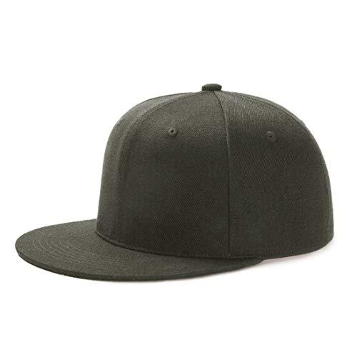 Yidarton Unisex Kappe Outdoor Baseball Cap Verstellbar Erwachsenen Mütze Casual Cool Mode Baseballmütze Hip Hop Flat Hüte (Z-Hiphop-Grün)