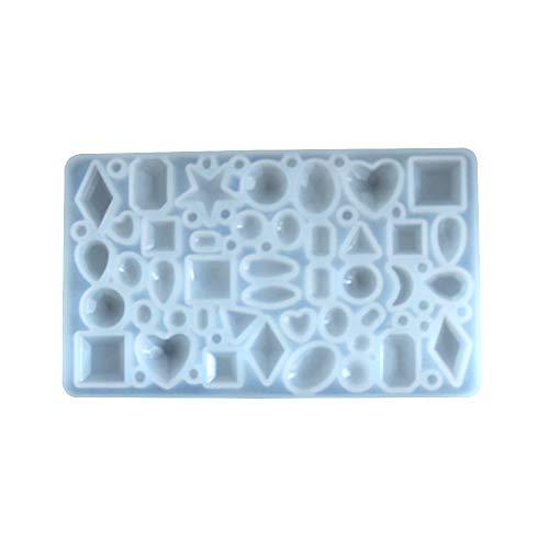 Juego de moldes de resina de silicona hechos a mano para joyería de bricolaje y manualidades, herramientas para colgante pulsera llavero, collares artesanales