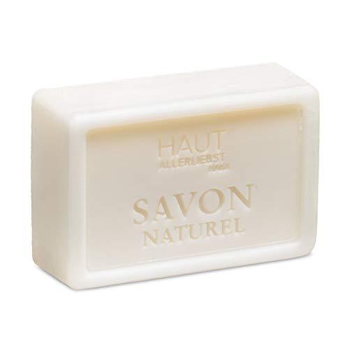 HAKA Savon Naturell Mandelblüten Seife I Feste Handseife I Sanfte Reinigung I Für alle Hauttypen