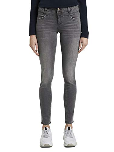 TOM TAILOR Damen Jeanshosen Alexa Skinny Jeans Grey Denim,28/32