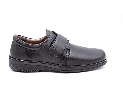 PRIMOCX - Zapato mocasín de Ancho Especial, de Velcro, con Suela de...
