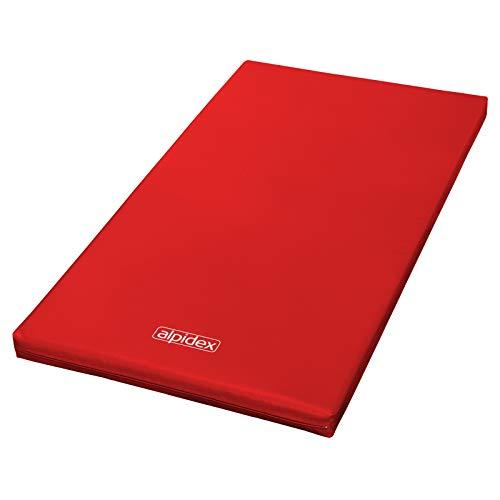 ALPIDEX Materasso 200 x 100 x 8 con Fondo Antiscivolo RG 20 (Molto Morbido), Colore:Rosso