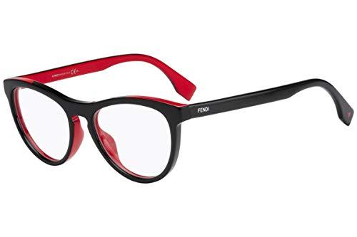 FENDI FF0123 Brillen 51-17-140 Schwarz Rote Mit Demonstrationsgläsern MFQ FF 0123