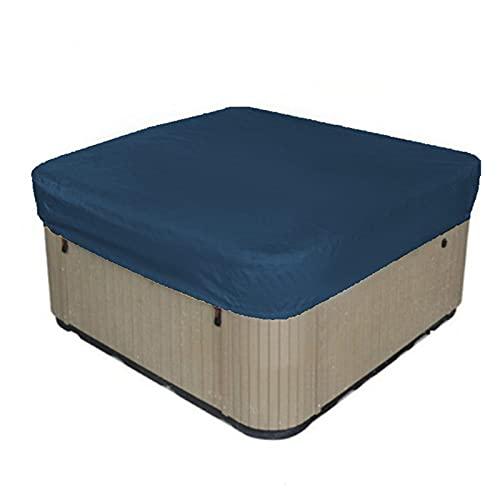 Duihk Badewanne Schutzhülle,Für Den Außenbereich Quadratische Badewannenabdeckung Winddichte Und UV Beständige SPA Badewannenabdeckung für Whirlpool Badewannen,Navy Blue,81.4x81.4x11.8in