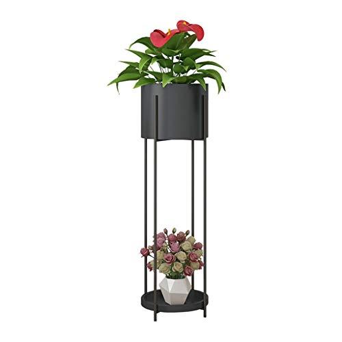 Support de Fleurs Pot de Fleurs Présentoir Support à Fleurs Support à l'échelle en Plante forgé Balcon Chambre à Coucher Salon 20x72 Cm / 23x85 Cm (LxH) Noir/Blanc/Or
