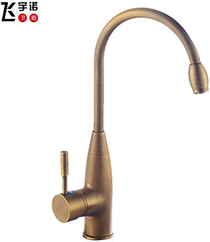 redOOY Taps Faucet Kitchen Faucet Kitchen Faucet Full Copper Basin Faucet Faucet Black, Antique