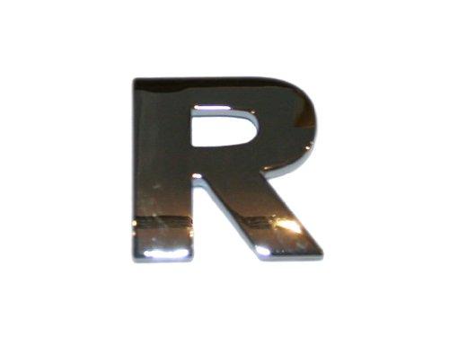 3D Chrombuchstabe R