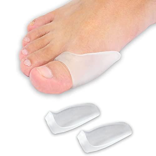 Zinyakon Protectores de juanetes, 12 paquetes de cojines y protectores para el dedo gordo del pie, protectores de juanetes para hombres y mujeres, alivian el dolor de juanetes por la fricción