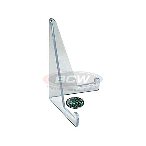Acrylic Card Stands by BCW – Set of 10 Picture Display Stands – Crystal Clear Transparent Mini Easel – Durable & Sturdy Design – Ideal for Home Display, Office, Shop, Special Events