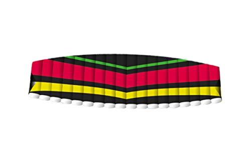 Eva Shop® NEUHEIT Premium Lenkmatte Tornado 200 - Zweileinerdrachen Lenkdrachen Flugspiel aus Polyester Flugdrachen für Kinder und Jugendliche Drachen mit Wickelgriff Drachenschnur 200 x 54 cm