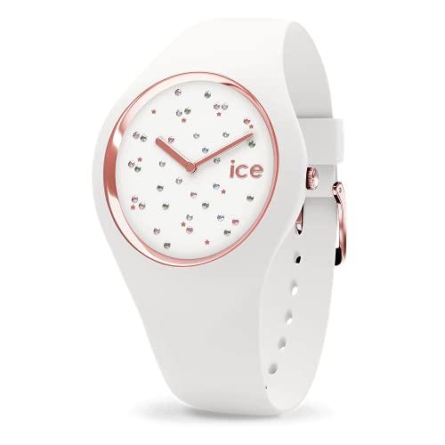 Ice-Watch - Ice Cosmos Star White - Montre Blanche pour Femme avec Bracelet en Silicone - 016297 (Medium)