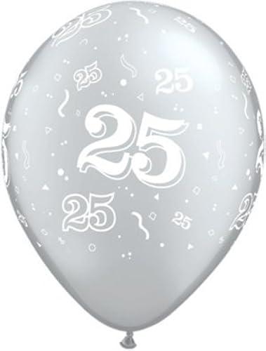 ventas en línea de venta 11 Age 25 Around plata Balloons Balloons Balloons (Bag of 25) for Party Decoration by Pams  gran descuento